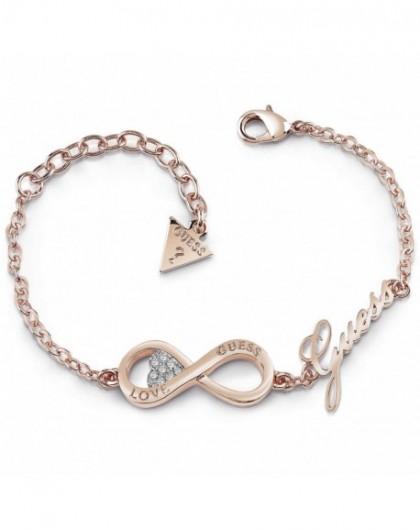 Bracelet Guess Endless Love Acier Doré Rose UBB85066