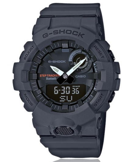 montre casio homme g shock bluetooth chrono r sine gris gba800 8aer. Black Bedroom Furniture Sets. Home Design Ideas
