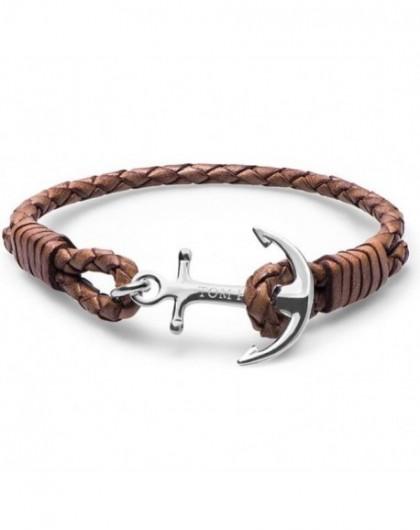 Bracelet Tom Hope Cognac Cuir Marron Clair