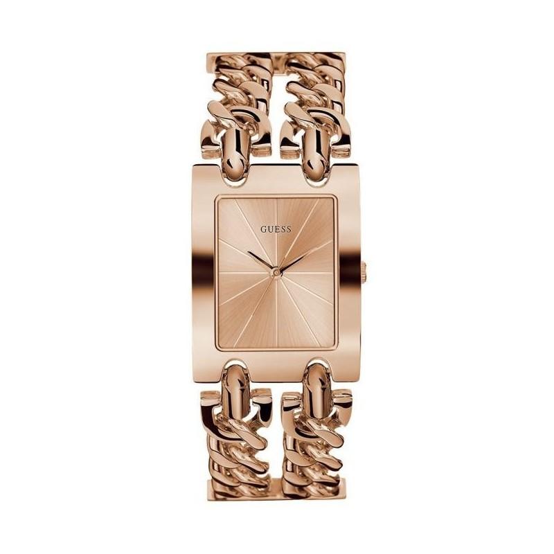 34752317d3 Boitier acier doré rose brillant 40mm, cadran rosé, bracelet multi chaines  acier doré rose brillant, G Link, étanche 30m.