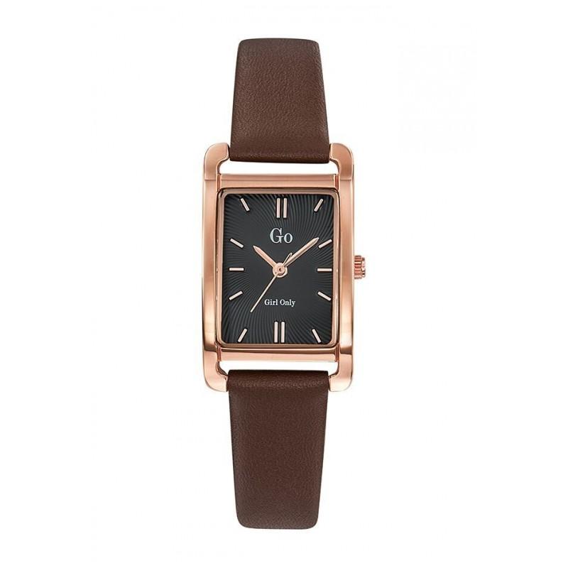 montre femme rectangulaire bracelet cuir