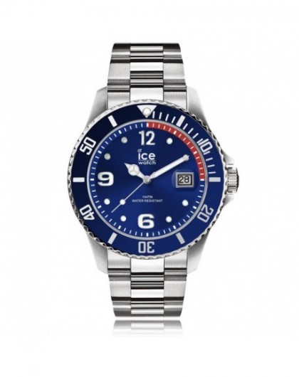 Montre Homme Ice Watch Steel Blue Silver Medium 015771