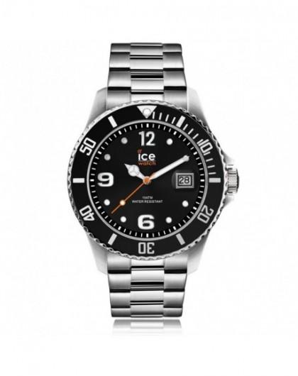 Montre Homme Ice Watch Steel Black Silver Medium 016031