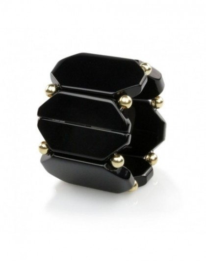 Bracelet Elastique Montre STAMPS 104891-1200 Belta Bead Black Gold -GPerDuMesAiguilles.com