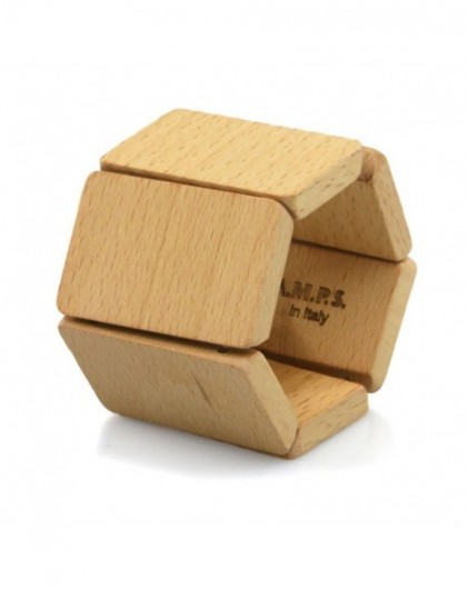 Bracelet Elastique Montre STAMPS 103541-1300 Belta Wood Beige -GPerDuMesAiguilles.com