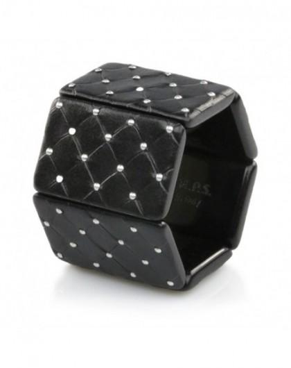 Bracelet Elastique Montre STAMPS 102231-4200 Belta Royal Black Silver-GPerDuMesAiguilles.com