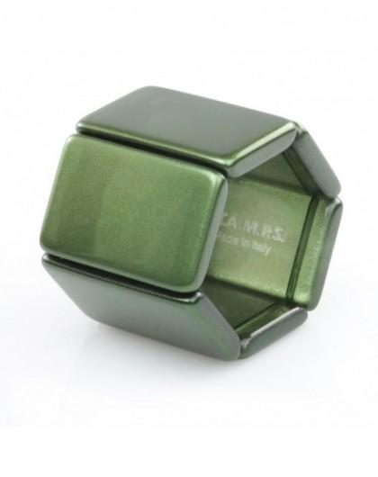 Bracelet Elastique Montre Stamps 102232-3000 Belta Metallic Green-GPerDuMesAiguilles.com
