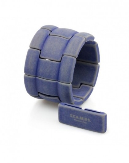 Bracelet Elastique Montre Stamps 103390-2765 Alpha Washed blue-GPerDuMesAiguilles.com