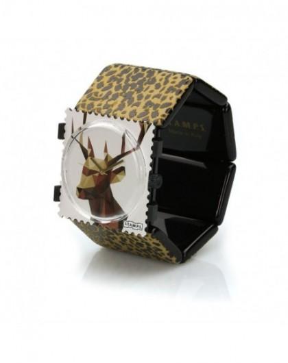 Bracelet Elastique Montre Stamps 103801-1500 Belta Léo Brown-GPerDuMesAiguilles.com