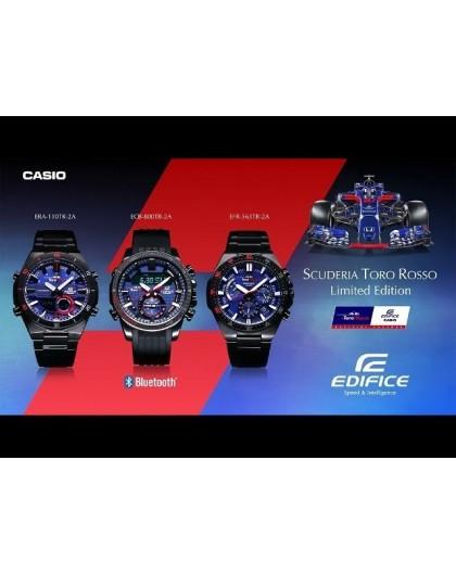 302608246 Montre Homme casio double affichage Edifice serie Toro Rosso, boitier rond  47mm, cadran bleu, bracelet acier à boucle déployante, chrono, alarmes,  timer, ...