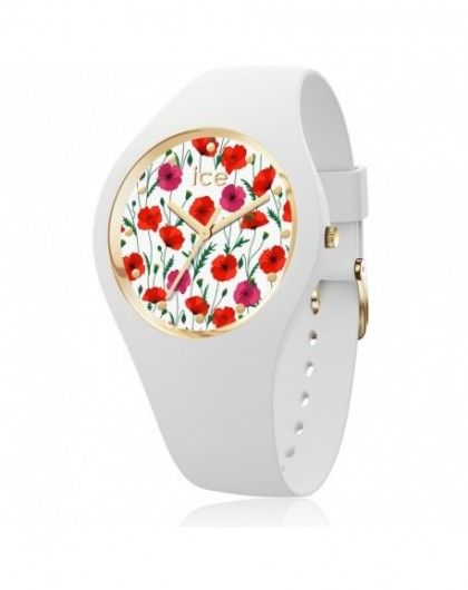 Ice Watch Flower White Poppy Montre Femme Small 016657-GPerDuMesAiguilles.com