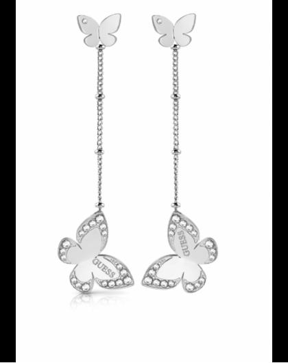 Guess Love Butterfly Boucle d'Oreille Acier UBE78016