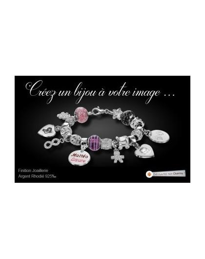 Charms Perle de Murano rouge C05036-GPerduMesAiguilles.com