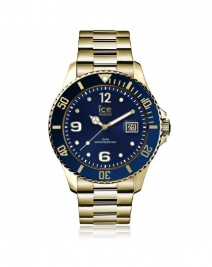 Ice Watch Montre Homme Steel Gold Blue Large 016762