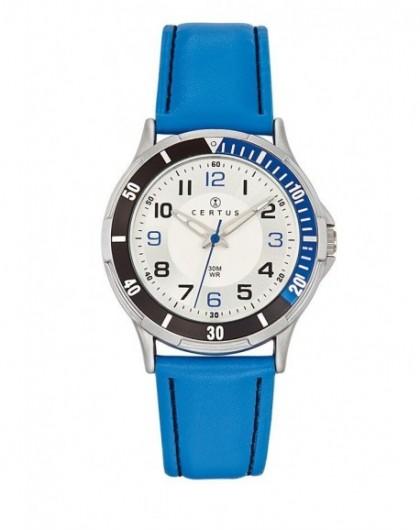 Montre Certus Enfant Cuir Bleu 647523 Classique