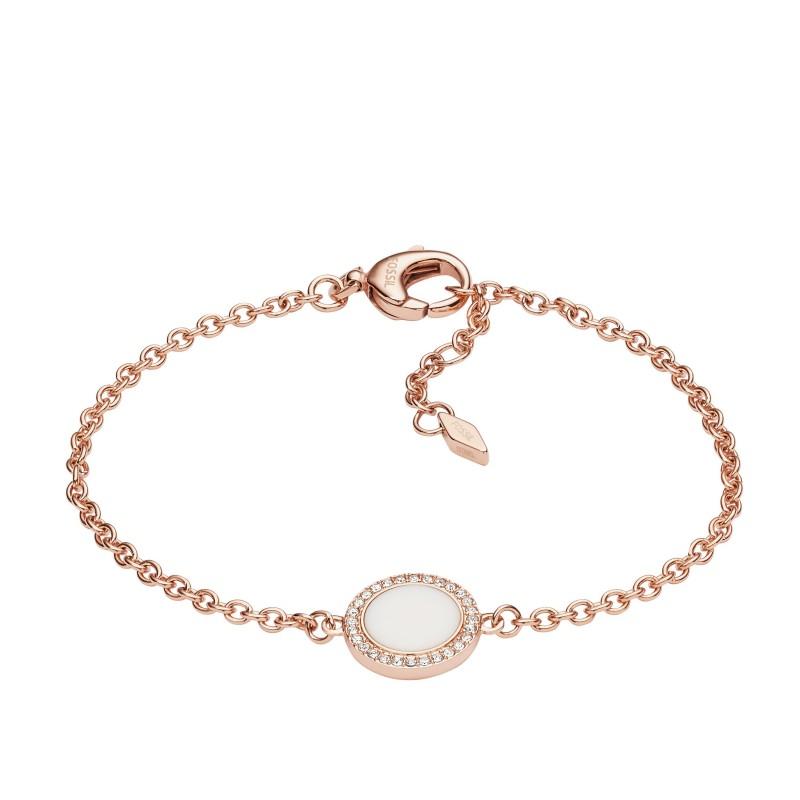 bracelet femme fossil acier