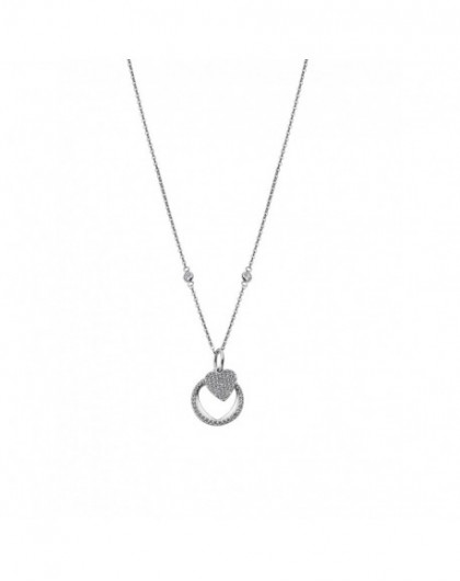 Lotus Silver Collier Femme...