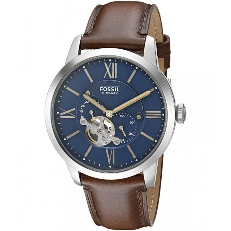 montre homme fossil bracelet cuir marron