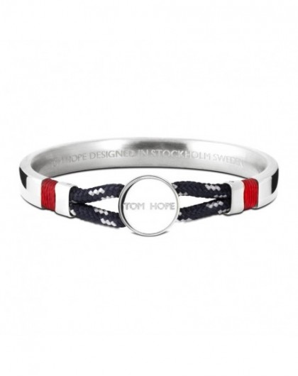 Tom Hope Bracelet Hybrid Origininal-SV-BL-GR- Taille M-TM0356