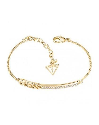 Guess Bracelet Linear métal doré UBB82038- GPerduMesAiguilles.com