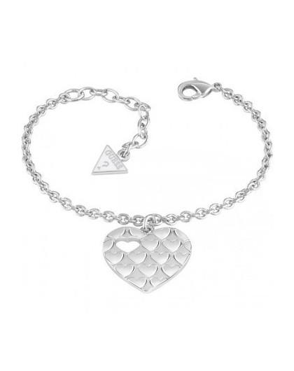 Bracelet  Guess Heart Devotion métal rhodié coeur UBB82060