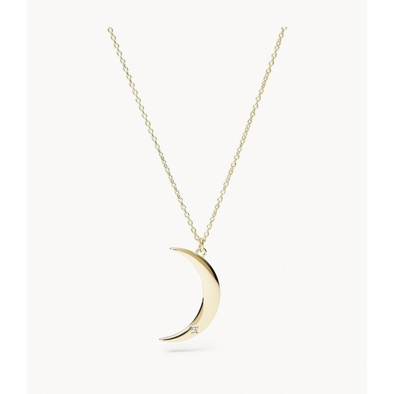 collier femme lune