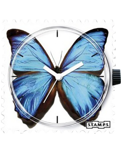 Boitier Montre Stamps 100163 Blue Butterfly-GPerDuMesAiguilles.com