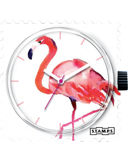 Boitier Montre Stamps 104302 Pink Feathers-GPerDuMesAiguilles.com