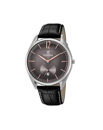 Montre Festina Homme Acier cuir noir  F6857/6 Classique