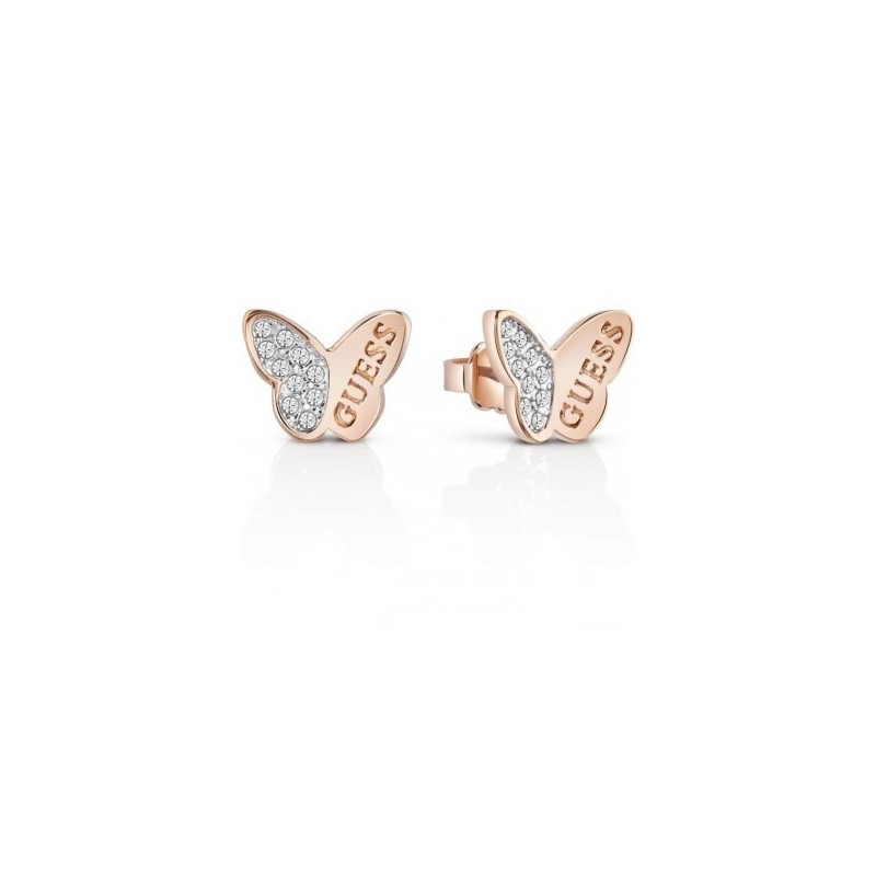 Boucle d'oreille papillon guess