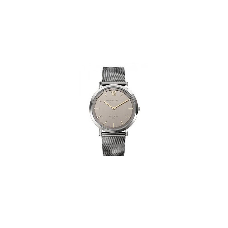 montre trendy classic homme lansen bracelet milanais gris cmb1037 20. Black Bedroom Furniture Sets. Home Design Ideas