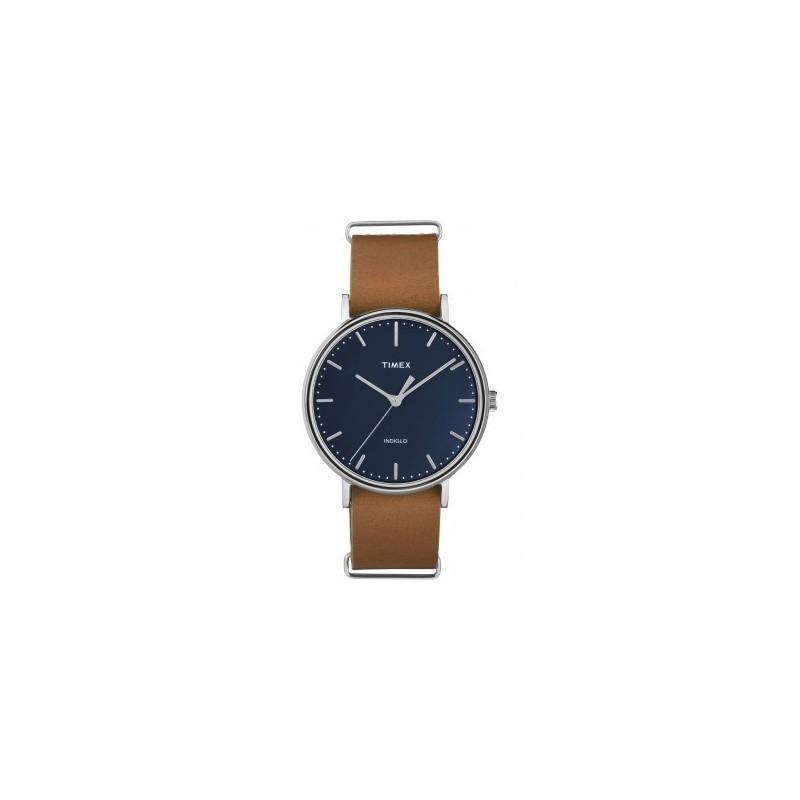 timex montre homme acier cuir marron tw2p978007d7. Black Bedroom Furniture Sets. Home Design Ideas