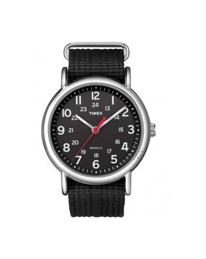 Montre Timex Homme Acier Tissu Noir T2N647D7