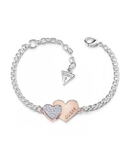 Guess Bracelet Guess Me and You métal rhodié UBB84125- GPerduMesAiguilles.com