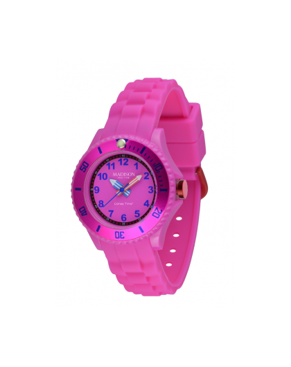 many styles free shipping top design Montre Madison Enfant Silicone Rosé SU4615S Sport